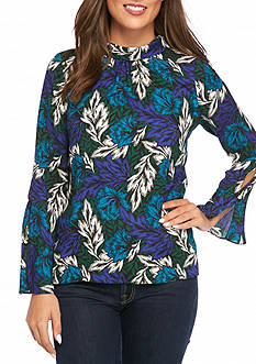 Vince Camuto Woodland Floral Blouse