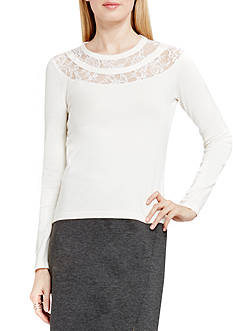 Vince Camuto Lace Yoke Sweater