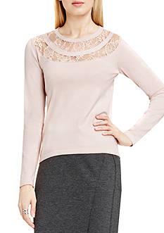 Vince Camuto Lace Yoke Sweater