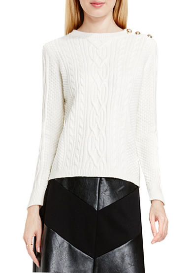Vince Camuto Long Sleeve Cable Knit Sweater