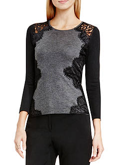 Vince Camuto Side Lace Sweater