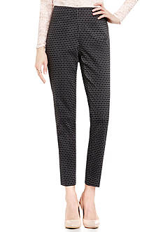 Vince Camuto Victorian Jacquard Ankle Pants