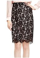Vince Camuto Scallop Lace Pencil Skirt