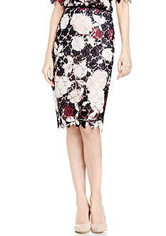 Vince Camuto Chapel Rose Lace Skirt