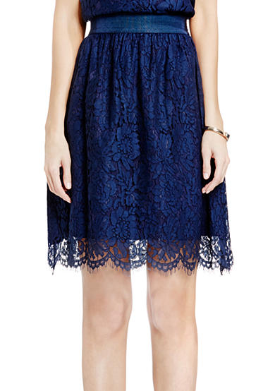 Vince Camuto Scallop Lace A-Line Skirt