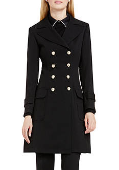 Vince Camuto Double Breasted Patch Pocket Coat