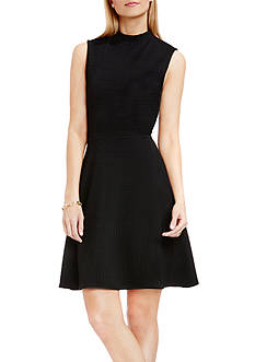 Vince Camuto Houndstooth Textured Dress