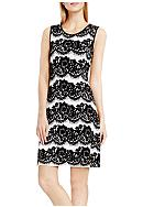 Vince Camuto Lace Jacquard Fit and Flare Dress