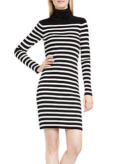 Vince Camuto Long Sleeve Stripe Turtleneck Dress