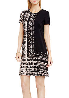 Vince Camuto Abstract Panel Shift Dress