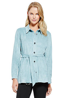 Vince Camuto Belted Faux Suede Jacket