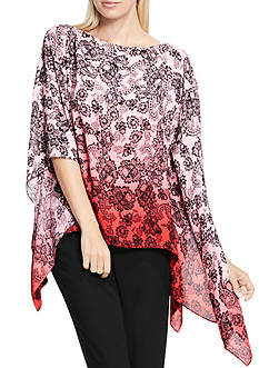 Vince Camuto Festive Ombre Poncho