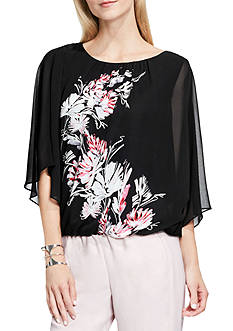 Vince Camuto Winter Garland Batwing Blouse