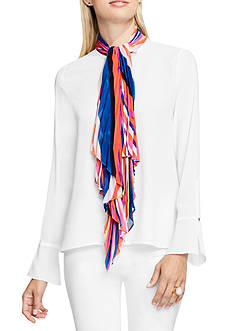 Vince Camuto Abstract Tie Scarf Blouse