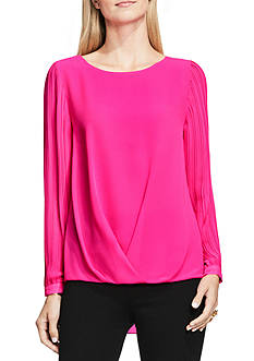 Vince Camuto Pleated Sleeve Blouse