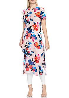 Vince Camuto Floral Long Tunic