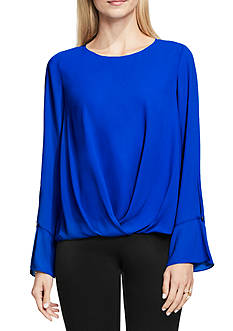 Vince Camuto Flutter Cuff Fold Over Blouse
