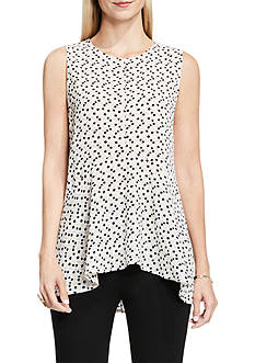 Vince Camuto Deco Layer Dots Blouse