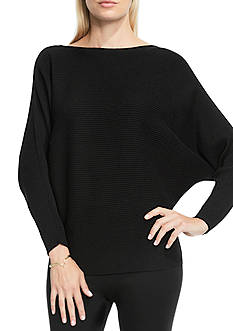 Vince Camuto Boatneck Ribbed Dolman Sweater
