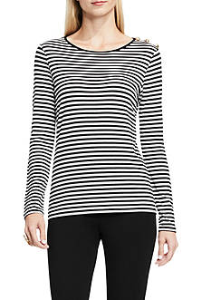 Vince Camuto Duo Stripe Top