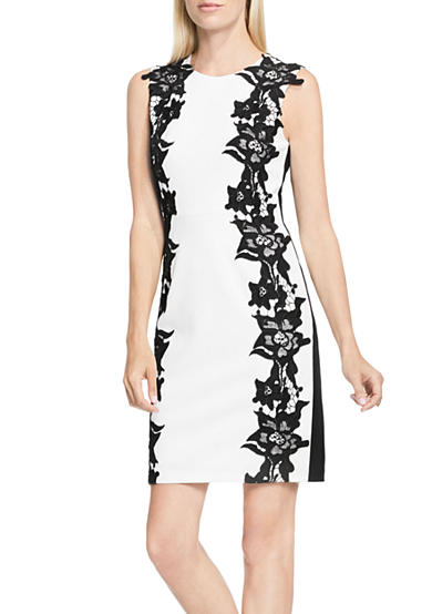 Vince Camuto Lace Panel Dress