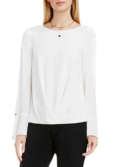 Vince Camuto Crossover Front Blouse