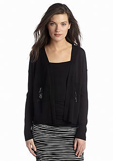 Vince Camuto Pointelle Knit Cardigan