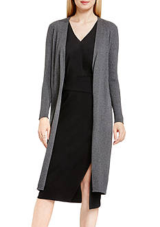 Vince Camuto Ribbed Maxi Cardigan