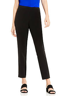 Vince Camuto Deluxe Double Weave Front Zip Kick Flare Pants
