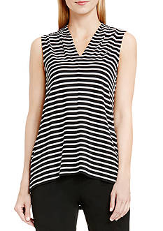 Vince Camuto Striped V-Neck Tank