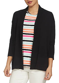 CHAUS Three Quarter Sleeve Cardigan