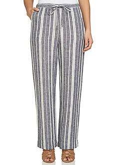 CHAUS Striped Linen Pant