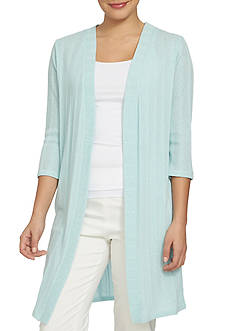 CHAUS Three Quarter Length Sleeve Open Cardigan