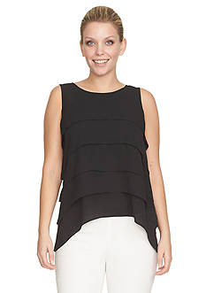 CHAUS Sleeveless Tiered Blouse