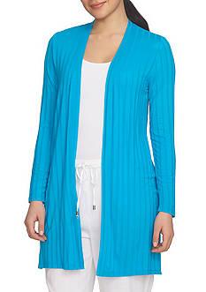 CHAUS Textured Knit Cardigan
