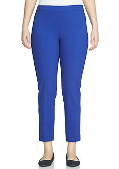 CHAUS Solid Side Zip Pant