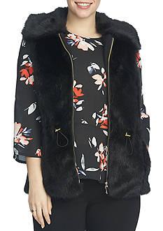 CHAUS Faux Fur Vest