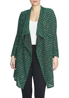 CHAUS Tweed Stripe Cardigan