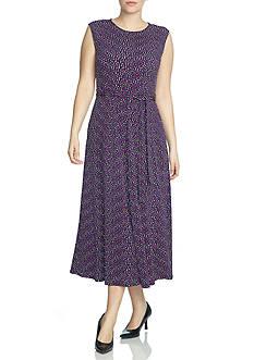 CHAUS Sleeveless Tie Dress