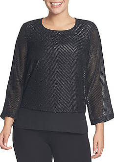 CHAUS Double Layer Blouse
