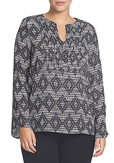 CHAUS Nomad Engraving Pintuck Top