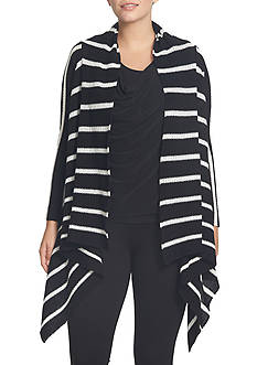 CHAUS Striped Cardigan
