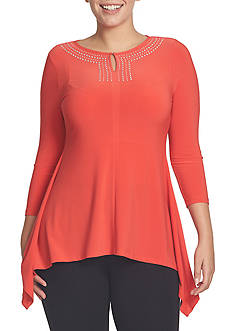 CHAUS Embellished Knit Top