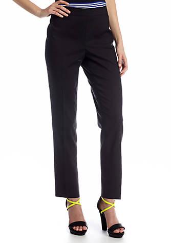 Chaus Doubleweave Side Zip Ankle Pant Belk