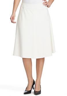CHAUS Knee Length A-Line Skirt