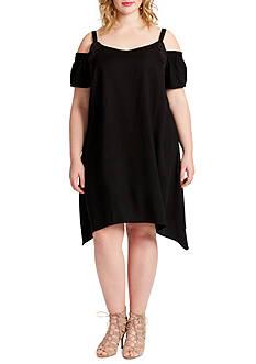 Jessica Simpson Plus Size Amaris Cold Shoulder Dress