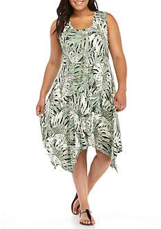 Jessica Simpson Plus Size Karenine Shark Bite Dress