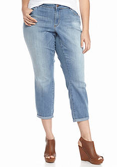 Jessica Simpson Plus Size Forever Skinny Crop Jeans