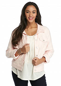 Jessica Simpson Plus Size Pixie Knit Denim Jacket