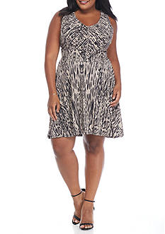Jessica Simpson Plus Size Halter Sunburst Dress